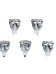 5pcs 10W MR16 800LM Warm/Cool Light Lamp LED Spot Lights(12V)