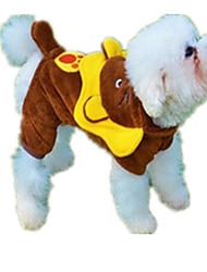 Cães Fantasias Marrom Roupas para Cães Inverno / Primavera/Outono Animal Casual