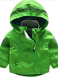 Boy Casual/Daily Solid Down & Cotton Padded,Polyester Winter / Fall Long Sleeve