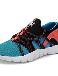 Homme-Extérieure / Décontracté / Sport-Noir / Bleu / Rose / Gris / Multi-couleur / Orange-Talon Plat-Confort-Sneakers-Tulle
