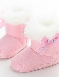 Kids' Girls' Baby Boots Comfort Snow Boots Fleece Winter Casual Comfort Snow Boots Bowknot Flat Heel Blushing Pink Khaki Flat