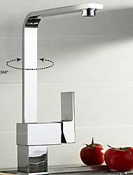 Moderne Décoration artistique/Rétro Pull-out / Pull-down Débit Normal Grand / Haut Arc Vasque Douche Séparé Rotatif with  Soupape