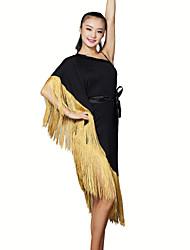 RobesFibre de LaitFemme Frange (s) Entraînement Danse latine Taille moyenne