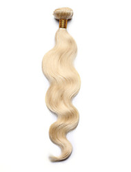 1PC TRES JOLIE Body Wave Human Hair 10-18Inch Bleach Blonde Color 613 Human Hair Weaves