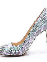 Damen-High Heels-Hochzeit Party & Festivität-Leder-Stöckelabsatz-Komfort-Mehrfarbig