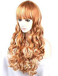 Europe and the United States Ms. long-term models of high-temperature hair mixed with golden hair wig