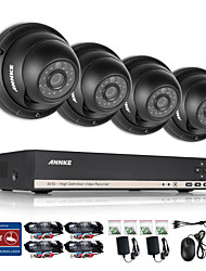 ANNKE 1.3MP 720P Ourdoor CCTV Camera 8CH AHD 1080N DVR Home Surveillance System