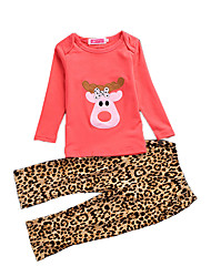 Girl Casual/Daily / Party/Cocktail SetsChirstmas Cotton All Seasons / Fall Long Sleeve Clothing Set