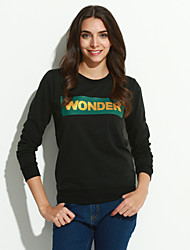 Women's Going out / Casual/Daily Cute / Street chic Regular Hoodies,Letter White