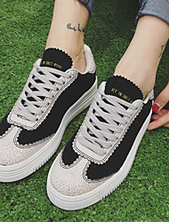 Women's Sneakers Others Leatherette Casual Black White