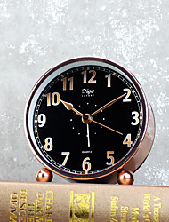 Alarm Clock with Matel Case Modern Style Black Color Silent Movment