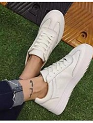 Homme-Décontracté-Noir / Rose / BlancConfort-Sneakers-Cuir