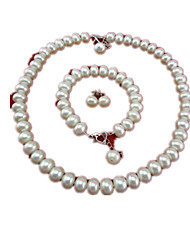 Jewelry Set Imitation Pearl Pearl Wedding Party Daily Casual 1set 1 Necklace 1 Pair of Earrings 1 Bracelet Wedding Gifts