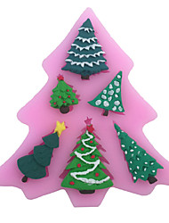 Christmas Tree Type Candy Fondant Cake Molds  For The Kitchen Baking Molds