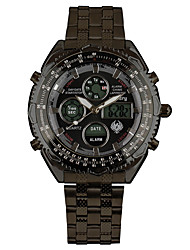 INFANTRY Men's Sport Watch / Military Watch Digital / Japanese Quartz LED / Calendar / Chronograph / Dual Time Zones / Alarm / Stopwatch / Luminous