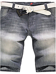 Trenduality® Hommes Shorts Pantalon Gris-82206
