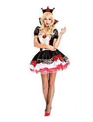Festival/Holiday Halloween Costumes White & Red & Black Solid Skirt / Hats / Cloak Halloween / Christmas / Carnival Female