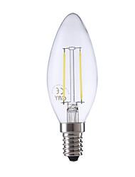 2W E14 LED Glühlampen B 2 COB 250 lm Warmes Weiß / Kühles Weiß AC 220-240 V 1 Stück