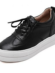 Women's Sneakers Comfort Pigskin Casual Black White