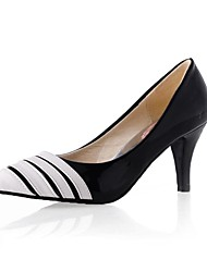 Women's Heels Spring Summer Fall Winter Comfort Patent Leather Office & Career Dress Party & Evening Cone Heel White Black Walking