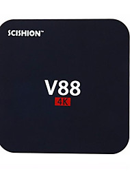 scishion V88 android 5.1 caixa de Smart TV 4K hd 1g ram 8g rom Quad Core wi-fi preto