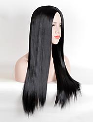 Perruque de mode longue perruque synthétique résistant à la chaleur
