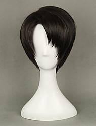 anime levi Ackerman do ataque em Titã cosplay marrom peruca 35cm perucas partido short traje reto