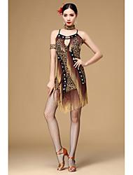 VestidosPoliésterMujer Cristales/Rhinestones / Borla(s) Representación
