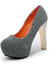 Feminino-Saltos-Plataforma Sapatos clube Light Up Shoes-Plataforma-Preto Azul Prateado-Seda-Casamento Social Festas & Noite
