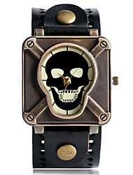 Men's Women's Couple's Unisex Sport Watch Fashion Watch Unique Creative Watch Quartz Punk Leather BandVintage Skull Camouflage Cool