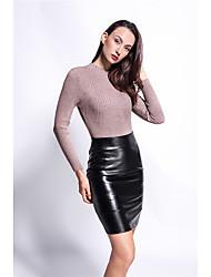 aliexpress taille chaude cuir PU jupe un ensemble jupe mot jupes de la hanche tenue décontractée modèle féminin tir réel