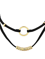Fashion Black Wide Choker Collar Necklaces