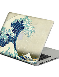 1 pc Scratch Proof PVC Body Sticker Sea Wave Pattern For MacBook Pro 15'' with Retina / MacBook Pro 15'' / MacBook Pro 13'' with Retina / MacBook