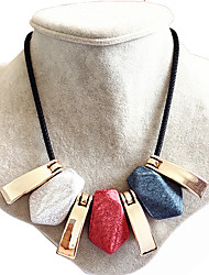 Necklace Multi-stone Collar Necklaces Jewelry Wedding / Party / Daily Geometric Geometric Gem Women 1pc Gift Assorted Colors