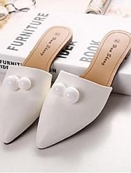 Черный / Белый-Женский-На каждый день-МикроволокноУдобная обувь-Башмаки и босоножки