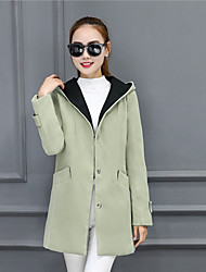 Woolen coat Girls long paragraph Slim thin 2016 Korean version of the new autumn and winter hooded cloak woolen coat student paradigm