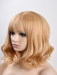 Europe and the United States women fashion pear head mixed gold short hair high temperature wire wig