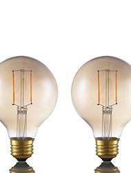 2W E26 LED лампы накаливания G80 2 COB 180 lm Янтарный Регулируемая AC 110-130 V 2 шт.