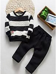 Boy Casual/Daily Striped Sets,Cotton Winter / Fall Clothing Set