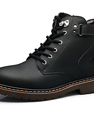 Men's Boots Spring Fall Winter Leather Outdoor Casual Lace-up Black Light Brown Dark Brown