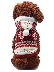 Hunde Pullover Rot Hundekleidung Winter / Frühling/Herbst Schneeflocke Lässig/Alltäglich