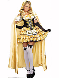 Princess Fairytale Festival/Holiday Halloween Costumes White Black Yellow Print Dress Gloves CloakHalloween Christmas Carnival Children's