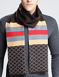 Men Wool Scarf,Casual RectangleStriped
