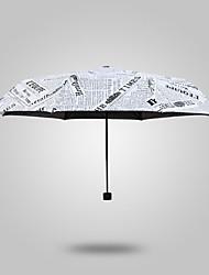 Preta / Branco Sapatos de Chuva Ensolarado e chuvoso Plastic Viagem