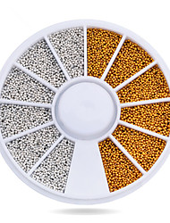 1pcs Gold Silver Tiny Circle Beads Nail Art Decoration Wheel 3d DIY Caviar Nail Accessories