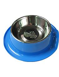 Cachorro Comedouro Animais de Estimação Tigelas e alimentação de animais Prova-de-Água / Reflector / Portátil / Casual AzulPlástico / Aço