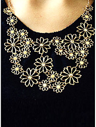 Women's Statement Necklaces Flower Alloy Adjustable Beige Jewelry For Party Gift Daily Office & Career 1pc