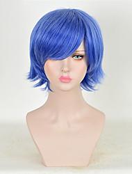 vente femmes chaudes Bule couleur perruques synthétiques courtes perruques frisées