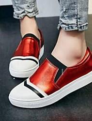 Feminino-Mocassins e Slip-Ons-ConfortoAzul / Vermelho / Branco-Pele-Casual