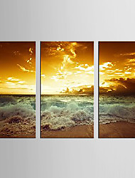 Canvas Set Landscape Modern / Classic,Three Panels Canvas Vertical Print Wall Decor For Home Decoration